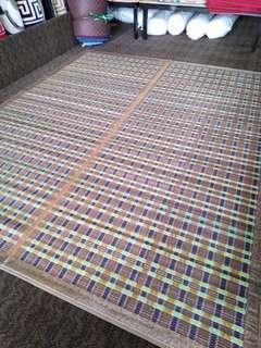 Christmas gift Silk Bamboo Bed  Mat Foldable Rug Floor Mat