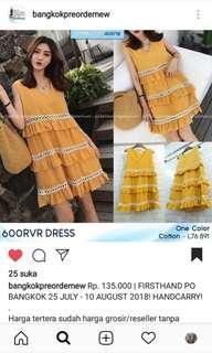 Mini Dress Bangkok import Style Korea