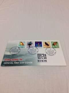 (Brand New, Original) Hong kong 94 official first day cover port moresby png 18february1994  郵票 stamp 首日封 (Straight Version)  (全新,直板)   香港🇭🇰出品  Made in Hong Kong 🇭🇰  Straight Version 正版 Great deals