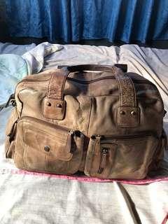 Genuine Leather Travelling weekender Bag not gucci prada lv