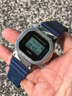 💙💙💙the latest in thing in the G-Shock world DW5600 in silver / gold / black metal bezel , gshock , g-shock , G-SHOCK , G-Shock , Casio , CASIO , casio