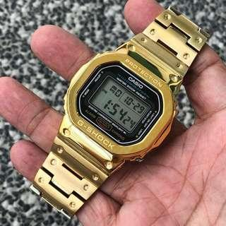 🔥🔥🔥The latest IN thing in the G-Shock scene - full gold metal DW5600 set , dw5600 metal , g-shock , gshock , G-SHOCK , G-Shock , Casio , CASIO , casio