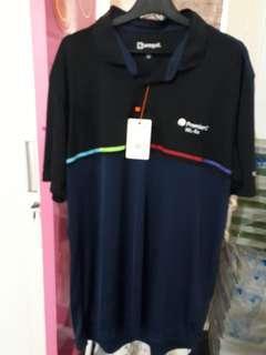 Jersey t-shirt, biru dongker. Good quality