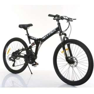 FREE Delivery -Full Suspension Bike)Brand new 26'' Foldable Bike,24 Shimano Speeds,Front and back Disk brakes etc.