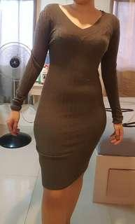 Knitted Dress Long Sleeves