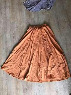 Bronze sunset skirt