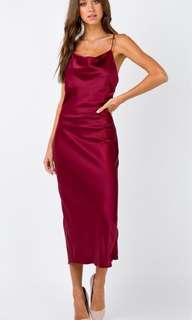 Betta Vanore Maxi Dress in Burgundy Size 14 NEW WITH TAGS RRP $75.00  $65.00 ONO