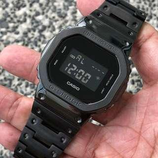 🔥🔥🔥The latest IN thing in the G-Shock world , DW5600 in full black metal bezel and black metal bracelet. Gshock , gshock , GSHOCK , g-shock , G-SHOCK , G-Shock , Casio , CASIO , casio