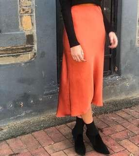 Sydney Rust Midi Skirt Size 14 NEW WITH TAGS  RRP $59.95 SOLD OUT ONLINE $50.00 ONO