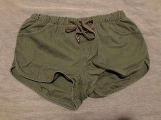 Khaki Mini Shorts Size L