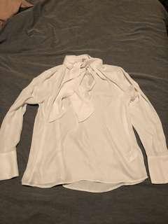 White H&M Blouse Size 16