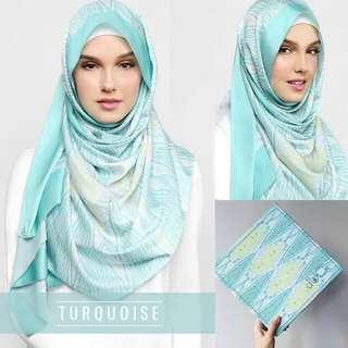 Duck Scarves Songket in Turquoise