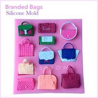 👜 BRANDED BAGS • POUCH • CLUTCH SILICONE MOLD Decorating Tool for Pastry • Chocolate • Fondant • Gum Paste • Candy Melts • Jelly • Gummies • Agar Agar • Ice • Resin • Polymer Clay Craft Art • Candle Wax • Soap Mold • Chalk • Crayon Mould •
