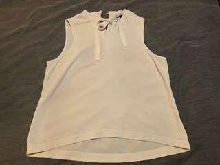 Portmans White Tie Top Size 16
