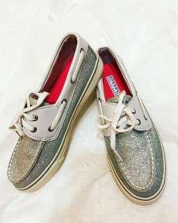 NEW Silver Glitter Sperry Shoes - Sz 6