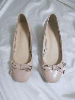 Baby Doll Nude Block Shoes