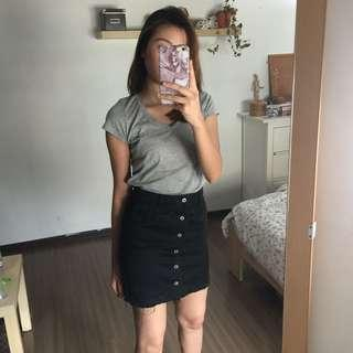 Denim button up skirt #Everything18