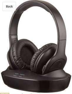 AmazonBasics Over-Ear Wireless RF Headphones with Charging Dock (no box )