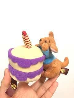 Winnie the Pooh 袋鼠生日蛋糕公仔