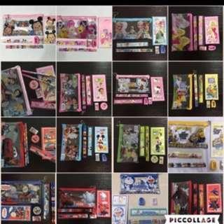 🚚 // CLEARANCE // Brand New Princess / My Little Pony / Lightning McQueen Car / Spiderman / Doraemon / Minions & Etc Stationery Sets