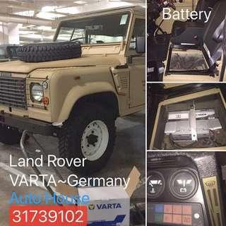 Land Rover 更新#德國VARTA 電池🔋VARTA.com各大歐洲車廠選配電池,預約更換服務請電:31739102