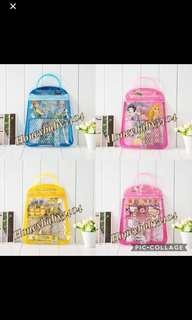 🚚 // CLEARANCE // Brand New Frozen / Princess / Hello Kitty / Minions / Pokémon Handbag Stationery Sets