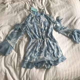 WE ARE KINDRED Morning Frost Playsuit