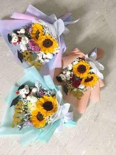 Sunflower Bouquet / Birthday Flowers / Graduation Bouquet / Sunflower with Rose