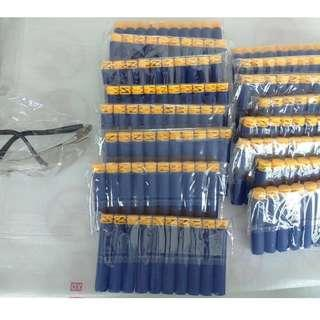 500 nerf z type darts and a pair of protective glasses bundle
