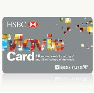HSBC GV Movie Card (Silver) - Selling tickets (Preorder)