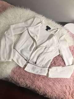 White Moto Blazer size XS