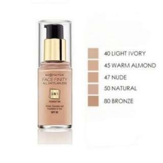 🚚 Bn Max Factor facefinity 3 in 1 foundation