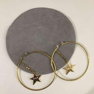 Holt Renfrew Large Gold Star Hoops
