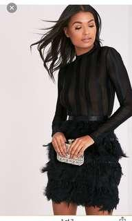 PLT Black feather dress