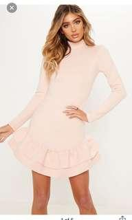PLT Double Frill Dress Pink