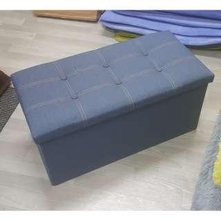 Jean fabric storage box/ stool