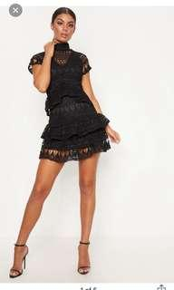 PLT Black Crochet Dress 8