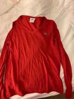 Red Lacoste sweater