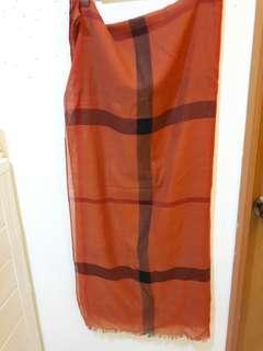 🚚 紅格子薄款圍巾/披肩
