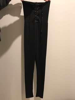 Prettylittlething black jumpsuit