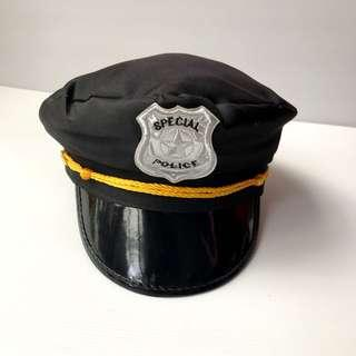 Party Police Hat Black