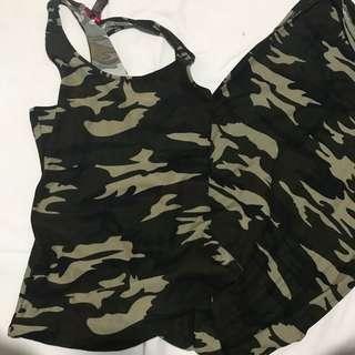 Camouflage maxi dress