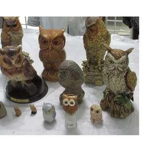 Old owl collection