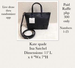 Original Kate spade Raffle