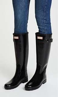 Hunter Boots Tall Gloss size 5