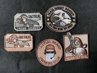 Tactical monkey Velcro Bag cap patch