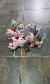Sold! BN Unicorns Key chains stuff plush soft toy