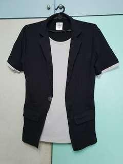 🚚 2 in 1 Blazer Tee Shirt