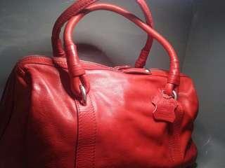 Minelli Red Leather Handbag