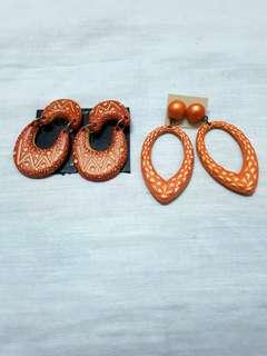 """Orange squeeze"" earrings set (2pcs)"